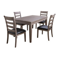 CorLiving New York Gray Wood Classic Dining Set - 5pc