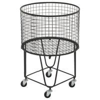 CosmoLiving by Cosmopolitan Black Industrial Metal Storage Cart, 25x17