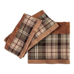 Forest Plaid Towel Set, Mocha