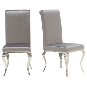 Louis Dining Chair, Set of 2, Silver