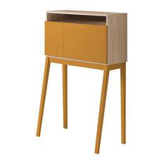 Hutch Desk, Cambrian and Mustard Yellow