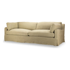 Hampton Slipcover Sofa, Hopstack Natural Linen