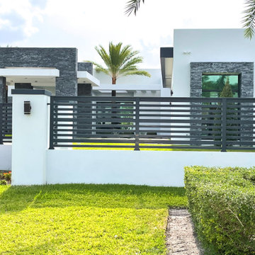 Exteriors with Black Vein Format Natural Stone Wall Panels