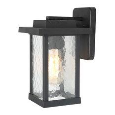 1-Light Modern Outdoor Wall Light, Black