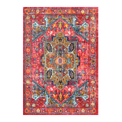 nuLOOM Traditional Tribal Cartouche Medallion Area Rug, Pink, 4'x6'