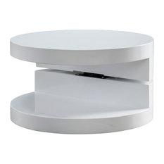 GDF Studio Emerson Small Circular Mod Swivel Coffee Table