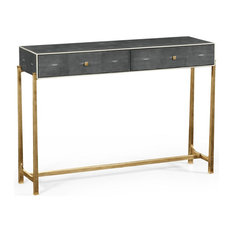 JONATHAN CHARLES LUXE Console Table Box Top Gilt Antiqued Anthracite