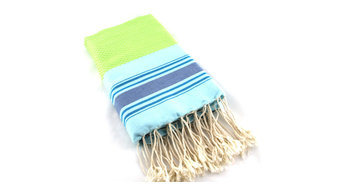 Fouta Towel Honeycomb Multicolor, Turquoises