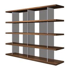 Modloft Beekman Bookcase, Walnut