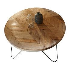 raw edge wood coffee tables | houzz