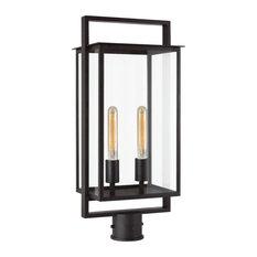 Halle Medium Post Lantern, Aged Iron