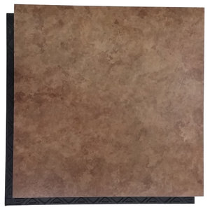 12 Quot X12 Quot Diy Grouted Luxury Vinyl Tiles Treadstone Natural Set Of 36 Modern Wall And Floor