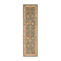"""Safavieh Antiquity Hand Tufted Rug, Blue and Ivory, 2'3""""x12' Runner"""
