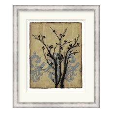 Surya LJ-4140 Wall Art Branch in Silhouette II Tan 26  x31   Portrait Artwork
