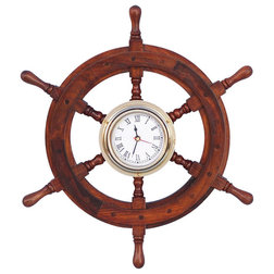 Good Beach Style Wall Clocks by Handcrafted Nautical Decor