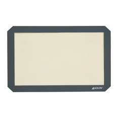 Anolon Advanced Bakeware 2-Piece Silicone Baking Mat Set, Clear With Gray Border