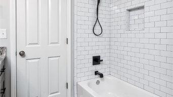 Contemporary Double Bathroom Remodel