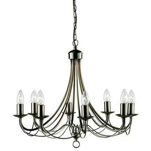 Maypole 8-Light Ceiling Light, Antique Brass