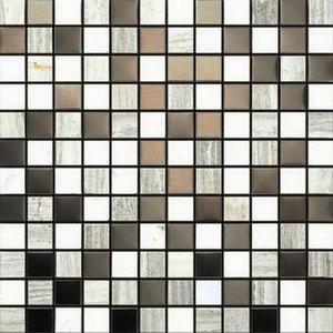 "Siberian Honed/Polished Blend Mosaic Tile, 12""x12"", Set of 50"