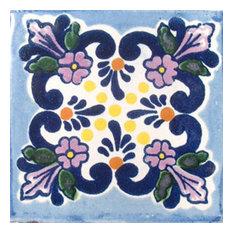 "4""x4"" Mexican Ceramic Handmade Tile #C008"