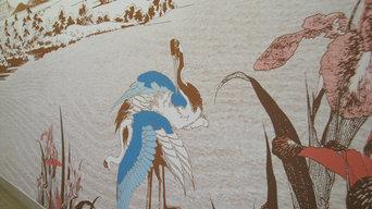 Création d'un décor mural