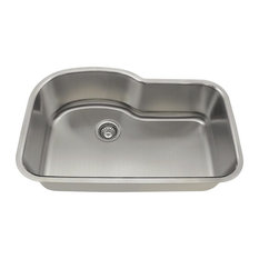MR Direct Sinks And Faucets   346 Offset Single Bowl Stainless Steel Sink,  16
