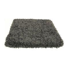 Square 10'x10' Kane Carpet Candy Shag, Anise Gray