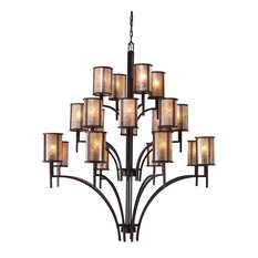 "Elk 15037/8+8+4 Barringer Chandeliers 50"" Metal Mica 20-Light"