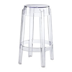 Modway - Casper Counter Stool Clear - Bar Stools and Counter Stools  sc 1 st  Houzz & Polycarbonate Ghost Chair Bar Stools u0026 Counter Stools | Houzz islam-shia.org