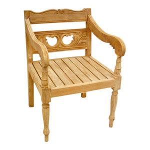 Teak Denpasar Arm Chair By D Art Collection, Inc