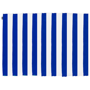 Striped Floor Rug, Blue and White, 150x200 cm