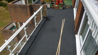 Balcony project using Soprema felt system and Marshall buff paving slab.
