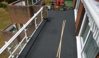 Balcony project using Soprema felt system and Marshall buff paving slab.