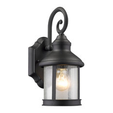 Traditional outdoor wall lights and sconces for your home houzz chloe lighting inc galahad 1 light outdoor wall sconce black aloadofball Gallery