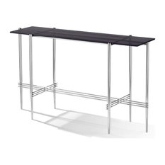 Modus Cedric Smoked Glass Top Console Table In Mocha