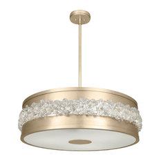 Fine Art Lamps Arctic Halo 3 Bulbs A-19 Medium Chandelier - Gold Leaf