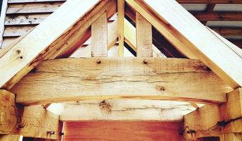 Oak framed porch