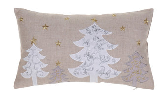 White Christmas Trees Pillow