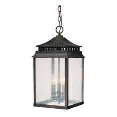 Capital Lighting Fixture Company - Capital Lighting Sutter Creek 3 Light Hanging Lantern, Old Bronze - Outdoor Hanging Lights