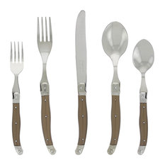 Laguiole 20-Piece Stainless Steel/Faux Bronze Service for 4, French Home