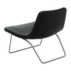Hay   Hay   Ray Lounge Chair, Edelstahl / Leder Schwarz   Chaiselongues
