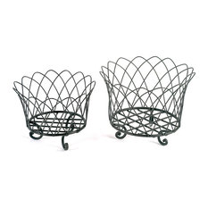 Wire Basket Fr With Feet Large
