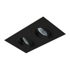 Jesco Lighting Group   2 Light Gimbal (Die Cast Aluminum), Black
