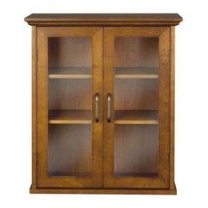 Elegant Home Fashions Avery 2 Door Wall Cabinet In Oil Oak