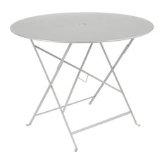 "Bistro 38"" Round Folding Table, Steel Gray"