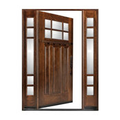 "Exterior Front Entry Wood Door Huntington M36 12""-36""x80"", Left Hand Swing In"