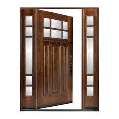 """Exterior Front Entry Wood Door Huntington M36 12""""-36""""x80"""", Left Hand Swing In"""