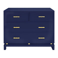 Greenbush Lacquered Occasional Chest Navy