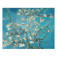 """Almond Blossom Painted Wall Mural, 71"""" x 47"""""""