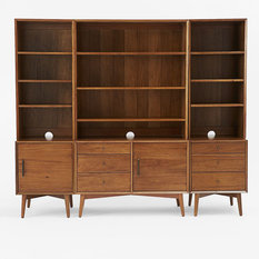 display units for living room sydney. mid-century media 6-piece set - entertainment units display for living room sydney